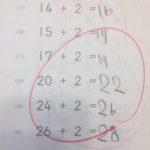 公文の算数6回目(たす2復習)スピードアップ