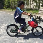 自転車補助輪解除!